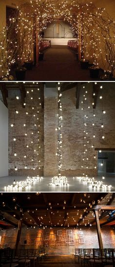 love this lighting for weddings.