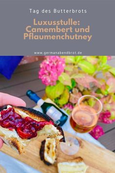 Luxusstulle zum Tag des Butterbrots: Camembert und Pflaumenchutney Chutney, Yummy Recipes, Yummy Food, Friday Night Dinners, Butter, Date Dinner, Chili, Brunch, God