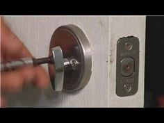 Home Repair & Maintenance : How to Replace a Deadbolt Lock - YouTube