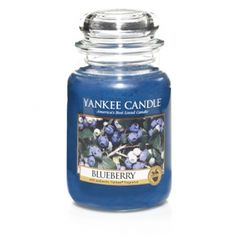 Blueberry Yankee Candle Company Large Jar Candles - Wonderfully tangy and sweet . . . a pure, delicious burst of juicy wild blueberry aroma.