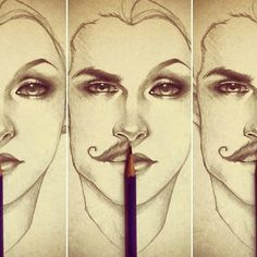 How to draw the differences between male and female faces...