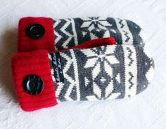 sweater mittens recycled sweater mittens by miraclemittens on Etsy