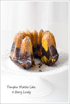 Berry Lovely: Chocolate-Pumpkin Marble Cake