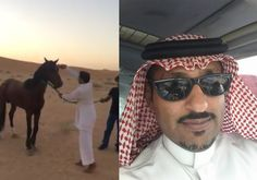 On his Facebook page,  سعود الكلثم posted a video of him destroying a horse. His friends can be heard giggling...