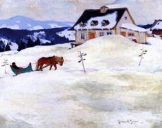 114 Artworks By Clarence Gagnon,clarence Gagnon Oil Painting & Art Prints For Sale,transform Space With Your Favorite Clarence Gagnon Paintings And Frames At Payable Price. We Ship Artwork Worldwide,you Can Custom The Size And Frame. Canadian Painters, Canadian Artists, Quebec, Clarence Gagnon, Horses In Snow, Winter Art, Winter Trees, Of Montreal, Snow Scenes