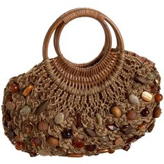 "New Cheap Bags. The location where building and construction meets style, beaded crochet is the act of using beads to decorate crocheted products. ""Crochet"" is derived fro Crochet Tote, Crochet Handbags, Crochet Purses, Bead Crochet, Crochet Granny, Macrame Purse, Macrame Jewelry, Art Bag, Macrame Tutorial"