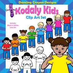 Dancing Crayon Designs - Kodaly Kids Hand Sign Clip Art, $4.95…