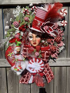 Excited to share this item from my #etsy shop: Christmas Mannequin Head Design, Luxury Christmas Design, Holiday Designer's Creation, Christmas Collectors Design, Peppermint Candyland Christmas Party Decorations, Christmas Wreaths, Holiday Decor, Seasonal Decor, Cabin Christmas, Xmas, Holiday Ideas, Christmas Crafts, Styrofoam Head