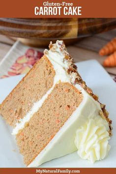 This carrot cake recipe with cream cheese frosting is my absolute favorite dessert recipe. My mom makes this for my birthday every year. It has been passed down from generations. Carrot Cake Icing, Gluten Free Carrot Cake, Best Carrot Cake, Gluten Free Desserts, Oreo Desserts, Carrot Cakes, Easy Desserts, Cake Recipes, Dessert Recipes
