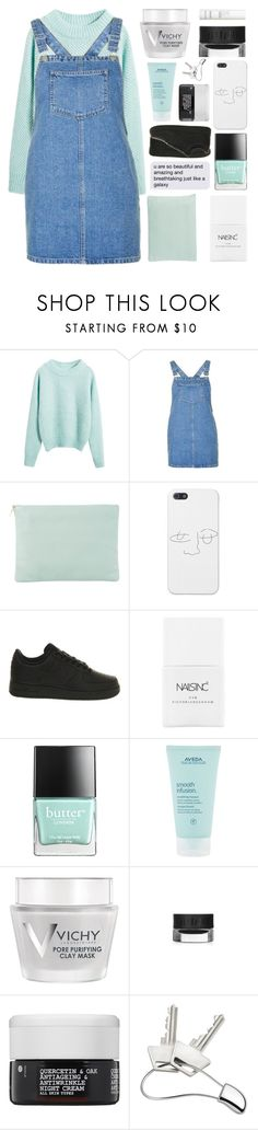 """""""I DON'T MIND IT ANYMORE"""" by constellation-s ❤ liked on Polyvore featuring Topshop, Meli Melo, NIKE, Nails Inc., Butter London, Aveda, Vichy, Korres, Georg Jensen and This Works"""
