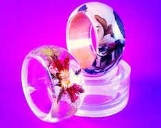 Clear Silicone Mold for thick wide bangle bracelet. Create your own bangle (MB049)