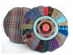 Round pillow : The Sunburst Cushion from Clever Elsie. £52.00, via Etsy.