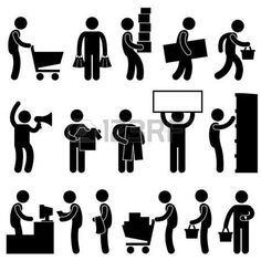Man People Shopping Cart Market Retail Sale Queue Stock Vector - Illustration of purchase, loaded: 20997939 Illustrations Médicales, Person Icon, Cart Icon, People Icon, People People, People Shopping, Shopping Mall, Shop Icon, Shopping