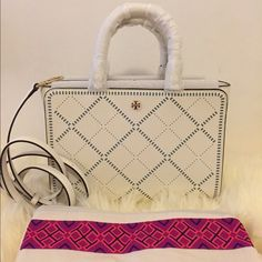 31% off Tory Burch Handbags - Tory burch Robinson crosshatch satchel from Dhira's closet on Poshmark
