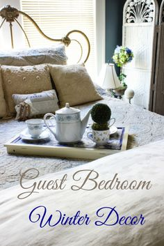Guest Bedroom Winter Decor - A Delightsome Life