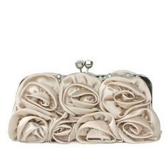 Elegant Satin With Flower Clutches (012033882)