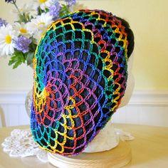 Renaissance Snood Hair Net  Mexicana by aprilsbag on Etsy, $10.00 Crochet Snood, Crochet Gloves, Crochet Scarves, Knitted Hats, Snood Pattern, Crochet Beanie Pattern, Crochet Hair Accessories, Crochet Hair Styles, Sombrero A Crochet