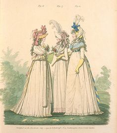Gallery of Fashion, Figures 16, 17, and 18.  July 1794