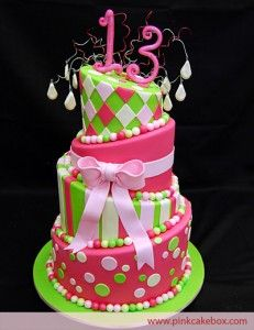 Such a fun cake to celebrate the the beginning of the teen years.
