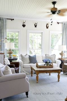 Savvy Southern Style: My Eclectic Summer Sunroom