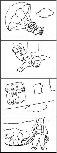 Logische volgorde parachute / descendo de paraqu