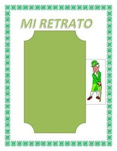 This exciting lesson was designed to Celebrate St. Patricks Day in your classroom. The lessons objective is to review colors, physical characteristics and adjectives. It is a great tool to have students practice  Soy statements. Instructions 1) Ask students to bring a picture to class for Homework.
