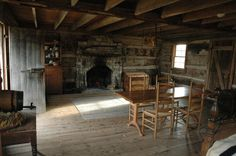 Old Log Cabin Interiors | ... restored log cabin in the Troy Historical Park. See pages on interiors