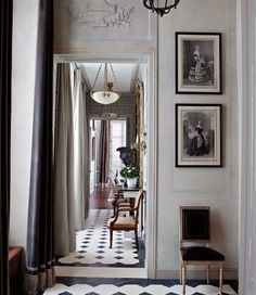 Curtained in a Romo velvet, a light-filled entrance hall greets visitors at a Paris apartment renovated and decorated by Jean-Louis Deniot. For details see Sources.(via An American Couple's Paris Home Celebrates French Style : Architectural Digest) Architectural Digest, Parisian Apartment, Paris Apartments, French Apartment, Apartment Design, Paris Apartment Interiors, Apartment Layout, Studio Apartments, Dream Apartment