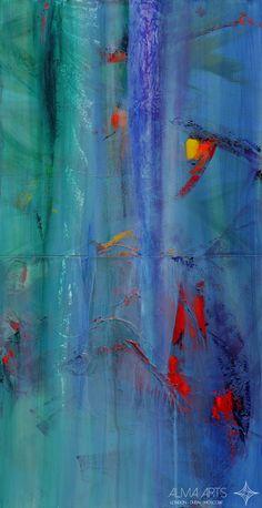 """Cristina Maddalena - Alma Arts Agency """"Accidia"""", 2009. Acrylic on canvas 200x100cm"""
