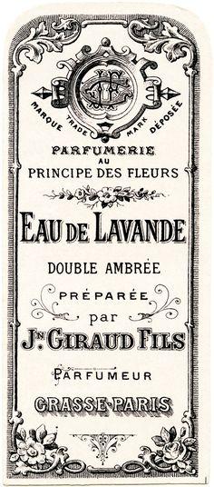 French perfume label, Jn Giraud Fils, vintage French ephemera, eau de lavande…