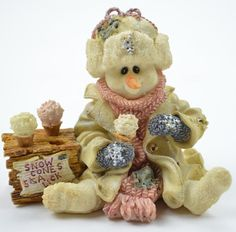 """BOYDS BEARS RESINS   Boyds Bears """"Slurp"""" Q. Isinglass - Resin Figurine - I put this out at Christmas.  Want this!"""