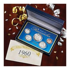 Year To Remember Coin Set | 60th Birthday Gifts For Men, Dad, Brother, Uncle, Father
