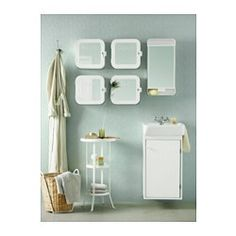 "GUNNERN Mirror cabinet with 1 door, white - 12 1/4x24 3/8 "" - IKEA long one to replace bathroom mirror"