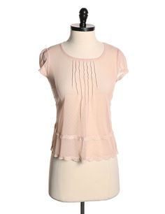 Kimchi Blue by Urban Outfitters Pink Sheer Short Sleeve Blouse - Size XS