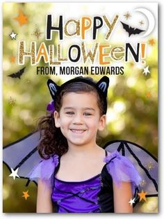 Your little monster will love this hauntingly beautiful Halloween card for kids.