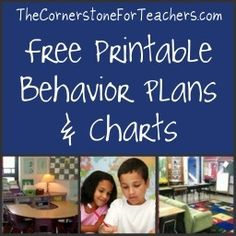 Plans and Charts Free printable behavior plans/charts + video and article with ideas for implementation.Free printable behavior plans/charts + video and article with ideas for implementation. Teacher Hacks, Teacher Organization, Teacher Tools, Teacher Resources, Teacher Stuff, Organized Teacher, Teacher Binder, Teacher Humor, Organization Ideas