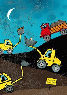 Postkarte mit Illustration von Antje Damm - 100 % Recyclingpapier