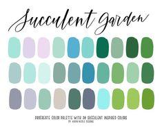 Beach Color Palettes, Green Colour Palette, Pin On, Color Psychology, Colorful Garden, Color Swatches, Succulents Garden, Color Schemes, Color Combos