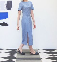 reinterpreted chambray quipao chinese dress with by Metaformose