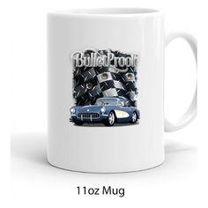 NEW PRODUCT - Blue 1956 Chevy Corvette Bulletproof Printed Coffee Mug