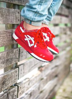 red asics valentines day