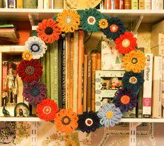 Bucilla Flower Loom flower wreath