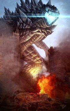 Godzilla by RipTorCPV