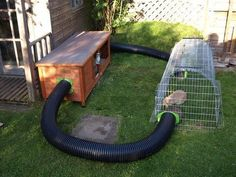 House of the Unique Rabbit and Easy to make - Kaninchen Guinea Pig Run, Guinea Pig Hutch, Guinea Pig House, Bunny Hutch, Diy Bunny Cage, Bunny Cages, Rabbit Cages, Rabbit Cage Diy, Rabbit Garden