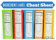 Ingredient label cheat sheet on 100 Days of #RealFood
