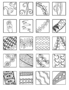 ZENTANGLE PATTERNS linear 4