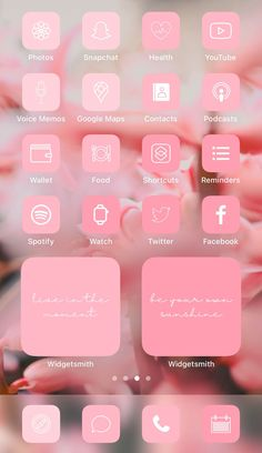 Want a home screen that looks like this? Check out SOSO Branding on Etsy (etsy.com/shop/sosobranding) for app covers to customize your home screen and make it aesthetically pleasing!   iPhone home screen ideas | Home screen inspo | Aesthetic home screen inspiration | Widgetsmith Shortcuts app | Aesthetic home screen inspo | iOS 14 widget photos | iOS 14 app covers | iOS 14 app icons Iphone App Design, Iphone App Layout, Future Iphone, Shortcut Icon, Cute App, Iphone Wallpaper App, Phone Themes, App Covers, Iphone Icon