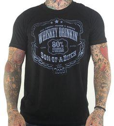 Whiskey Drinkin' SOB Too Fast Black T Shirt Top Mens XL Rockabilly Punk Rock Oi | eBay FREE U.S. SHIPPING!!!