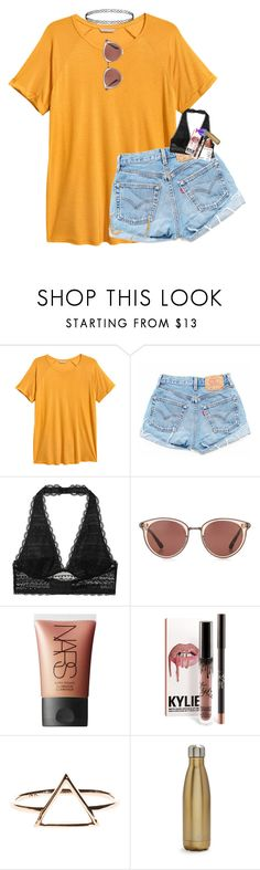 """""""When people say Taylor swift made 'IDWTLF' """" by morgankailah ❤ liked on Polyvore featuring H&M, Victoria's Secret, Oliver Peoples, NARS Cosmetics and S'well"""