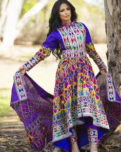 Maneiza Qalin Baaf Afghan Dress